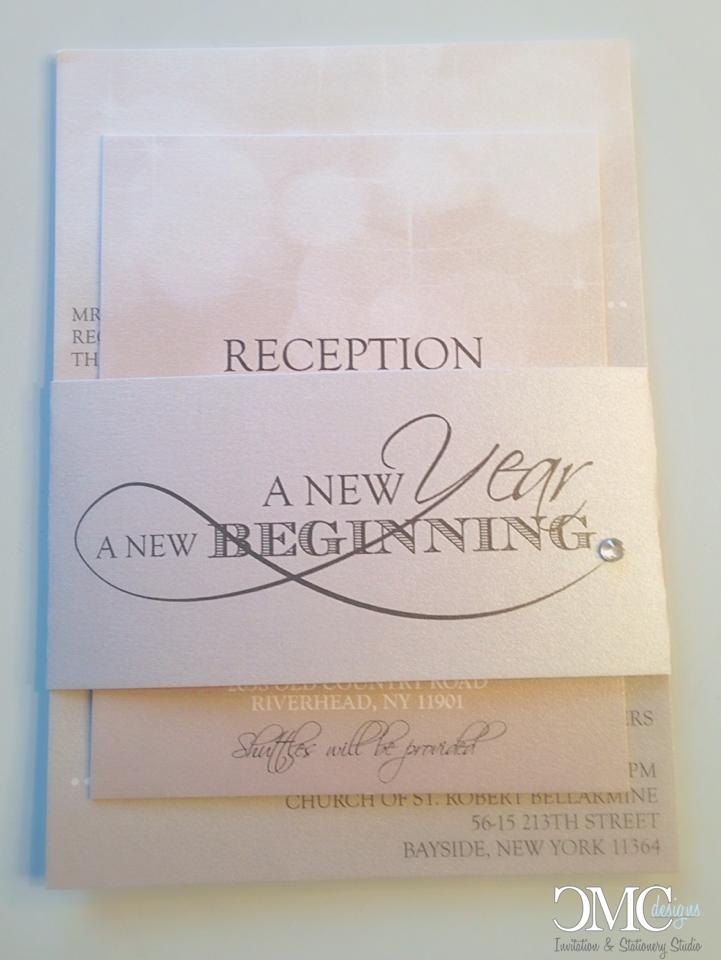 new year's eve wedding invitation