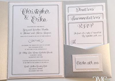 Glitter backed invites