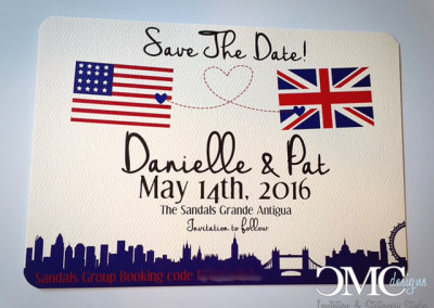 british american save the date
