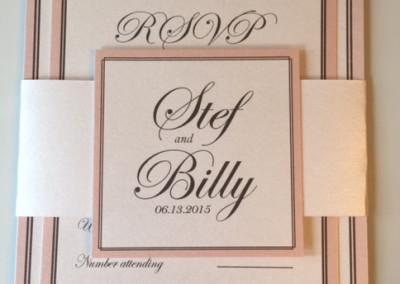 gray and blush wedding invitations