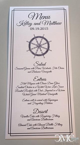 nautical menu