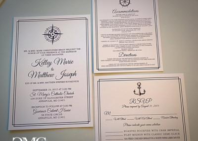 nautical wedding invite suite