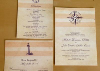 pale pink stripe nautical invite