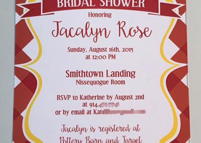 picnic shower invite