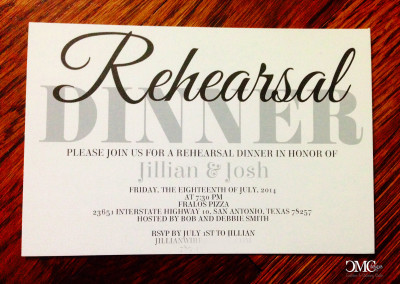 rehearsal dinner invite